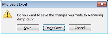 Modify the CSV file for BulkRename Utility