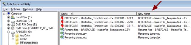 Rename the files using BulkRename Utility