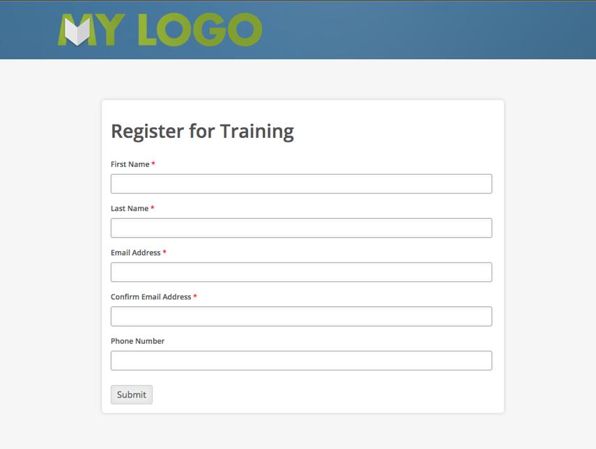 End User Self Registration Form