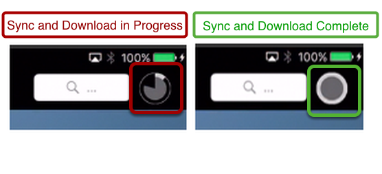 Difference between Sync and Download