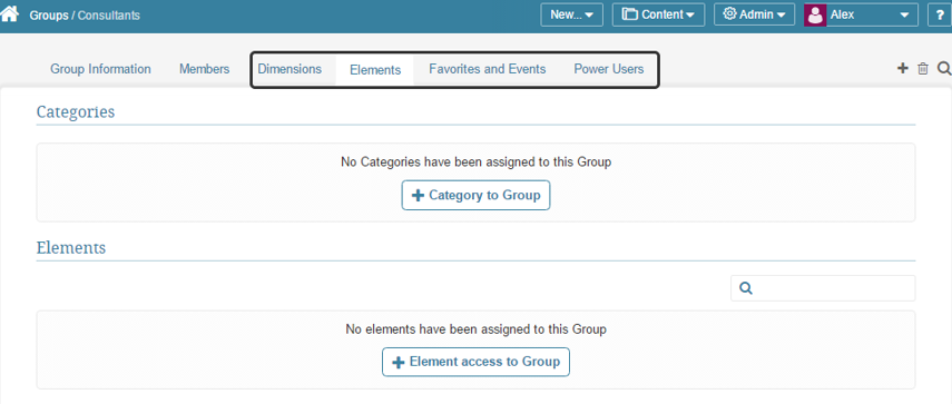 Assign the Group access to various other fields using associated tabs