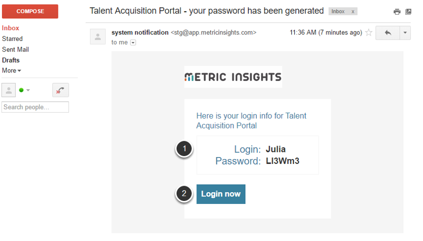Login using a system-generated Email