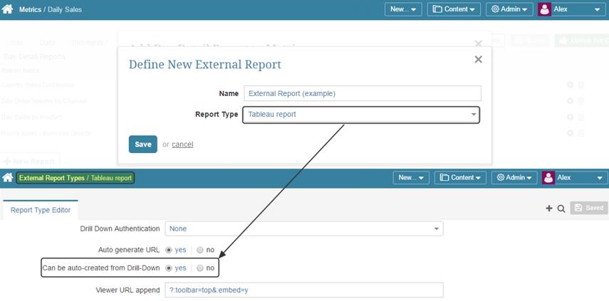 Defining External Report