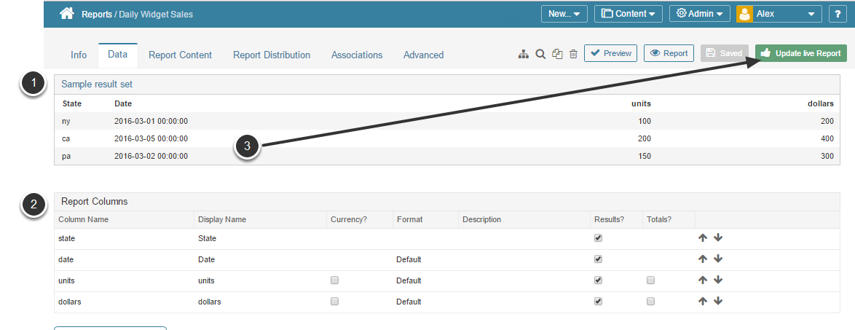 Review sample results and enable report