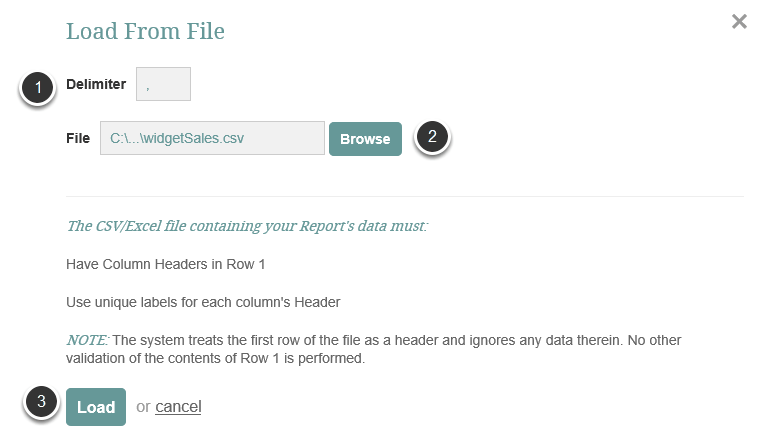 Select the file and load