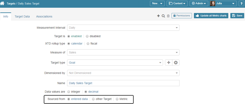 Define the Target Data Source