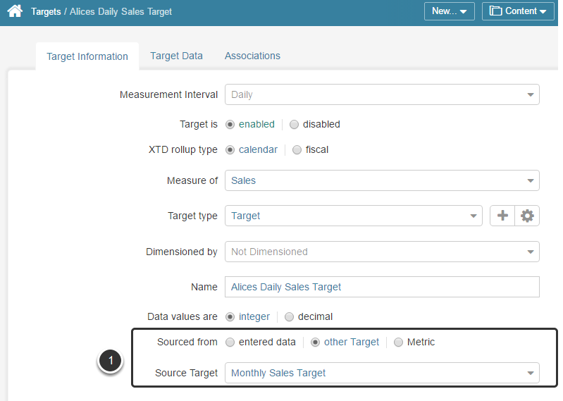 Populating Target data from other Target