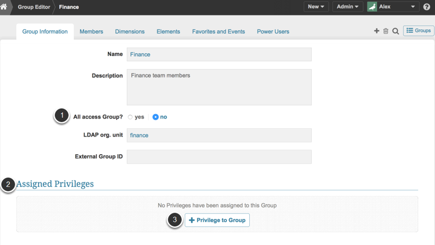 Access User or Group Editor