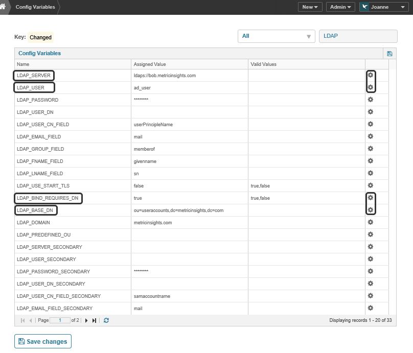 Establishing a connection to your LDAP server
