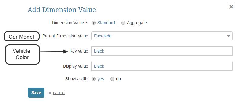 Define Dimension Values