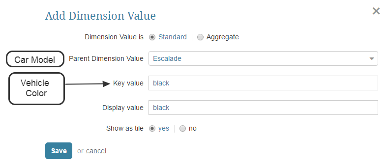 Define Dimension Values