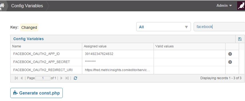 Access Config Variables via Admin Menu > Utilities