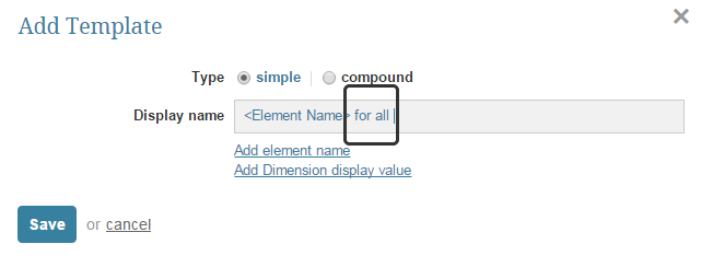 Example of adding free-form data to template