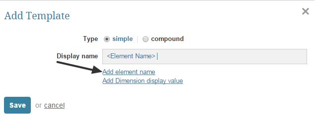 Adding new Element Name Template