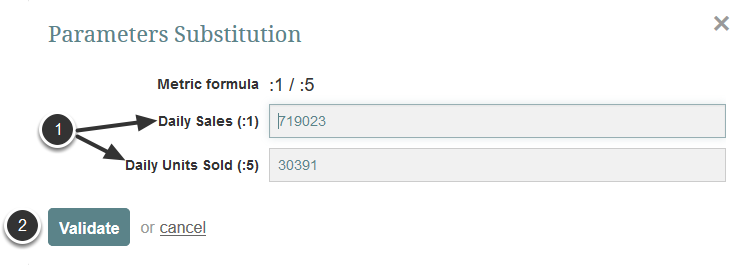 Provide Substitution Parameters