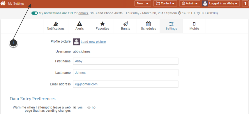 You now have full access to User's Preferences Editor