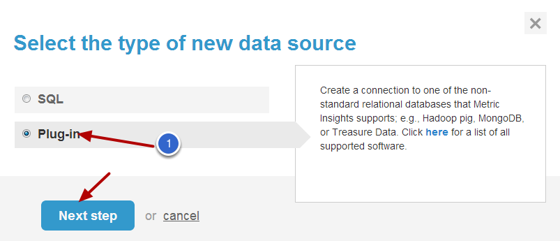 Set type of new Data Source