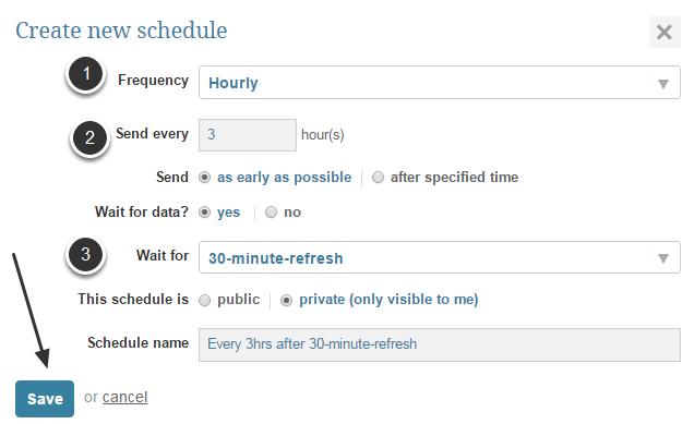 Create a New Schedule