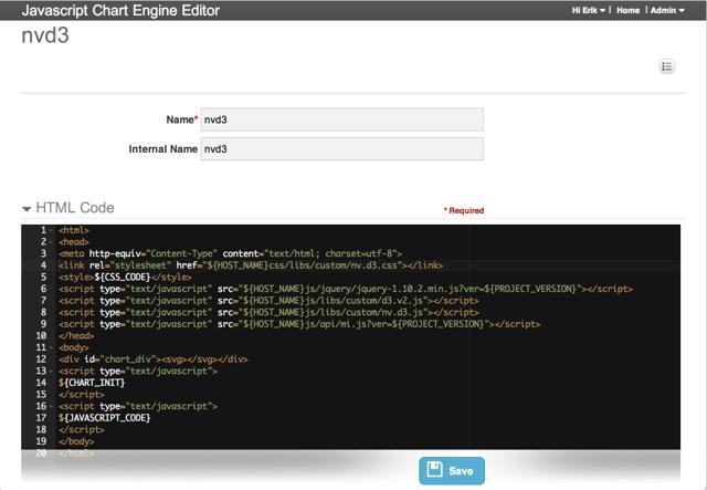 JavaScript Chart Engine Editor - add HTML