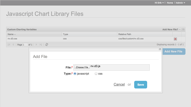 Add JavaScript charting library files