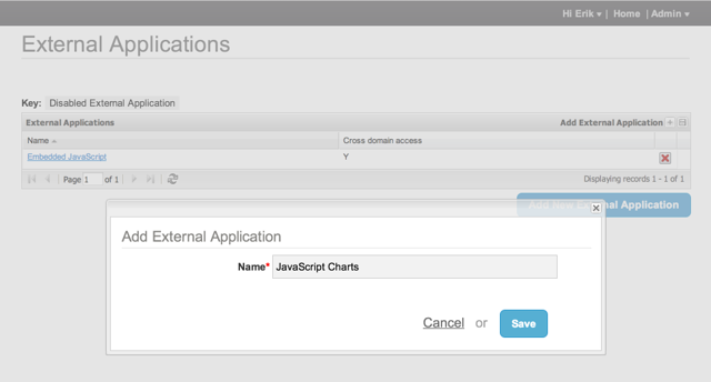 Add External Application