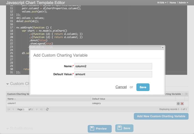 Add Custom Charting Variable
