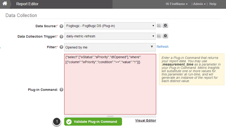 Validate your Plug-in Command
