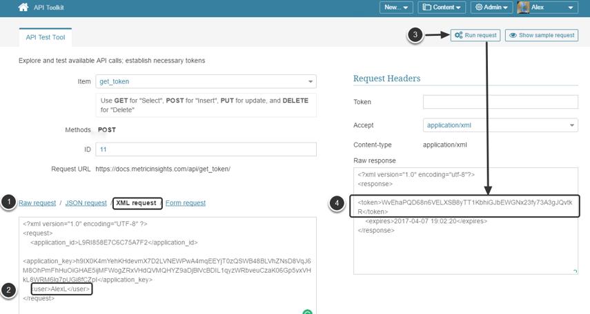 Get API Token using XML format