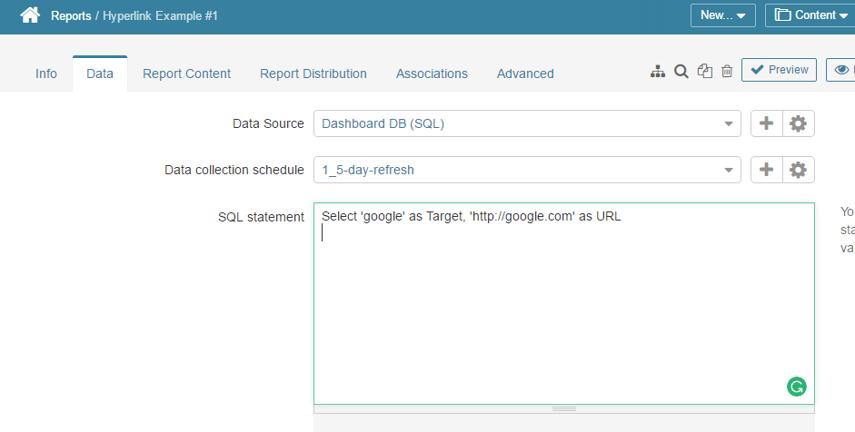 Enter link via SQL