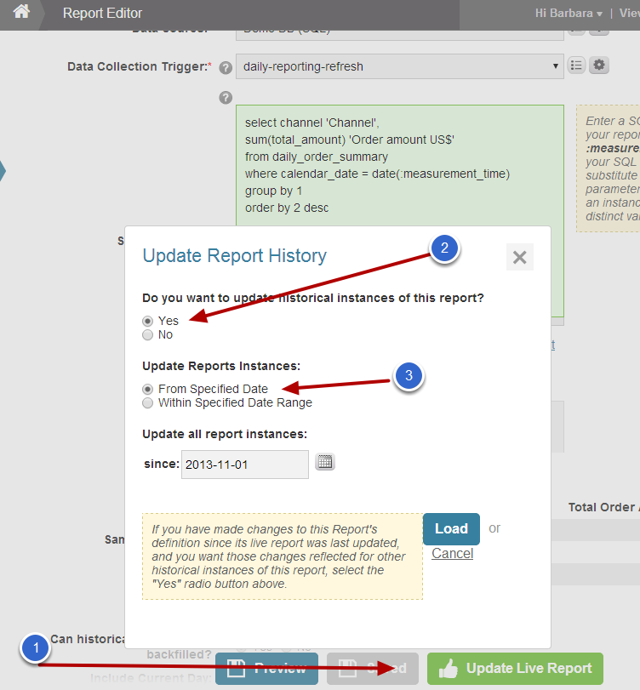 Recollect any data generated in error - Report example