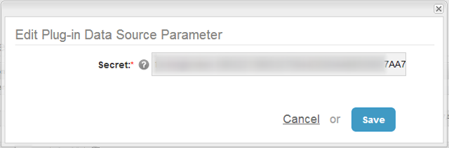 7. Add Secret parameter to profile