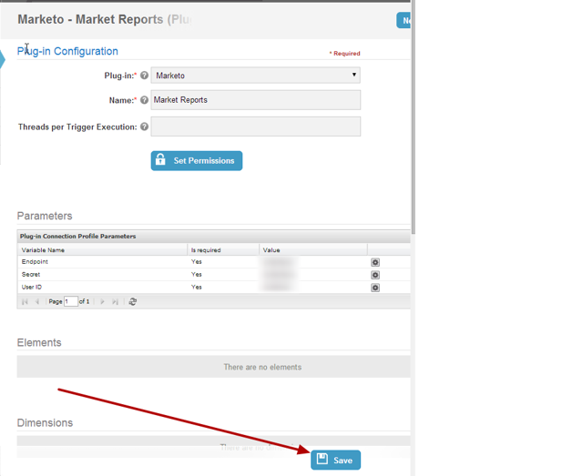 9. Save Marketo Plug-in