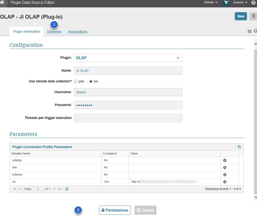 6. Full Data Source Editor displays