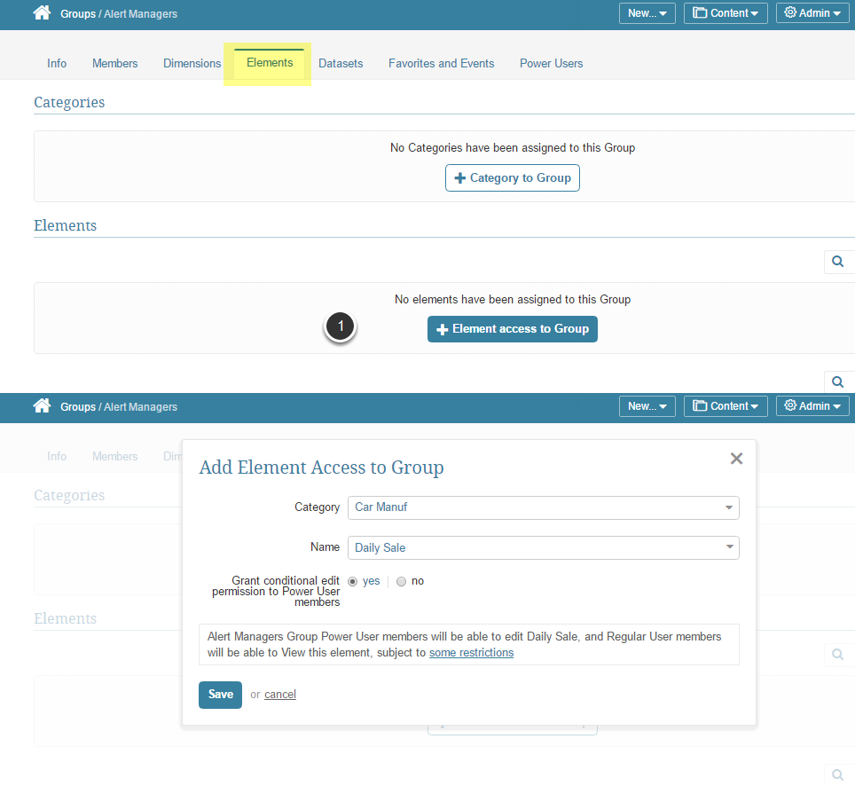 Admin > Group > select an existing Group or Add a new Group
