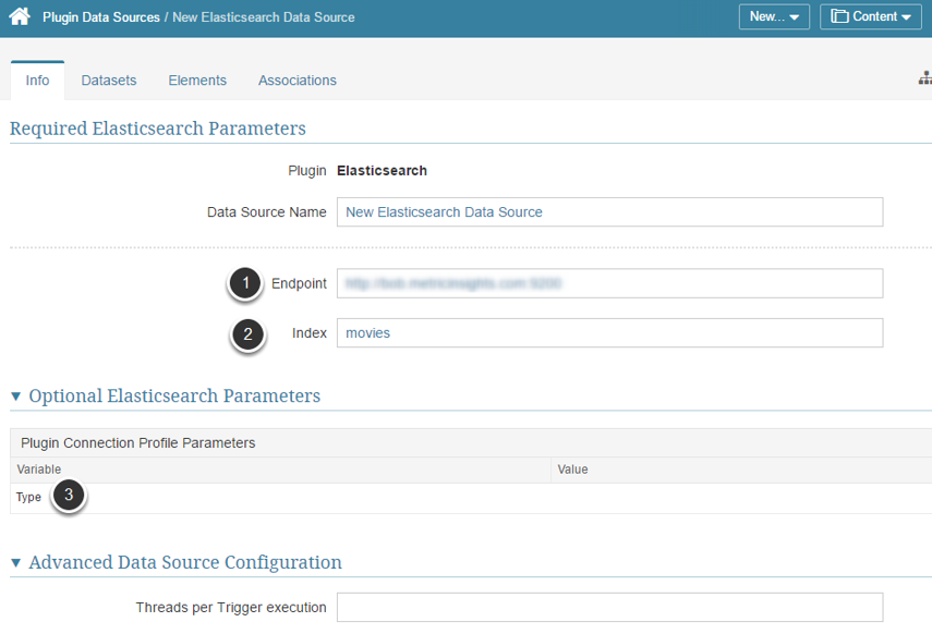 Provide the Required Elastic Search Parameters