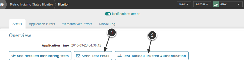 Email Test and Tableau Trusted Authentication