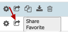 I'm trying to share a favorites folder but the 'Share' button is missing. What's up?