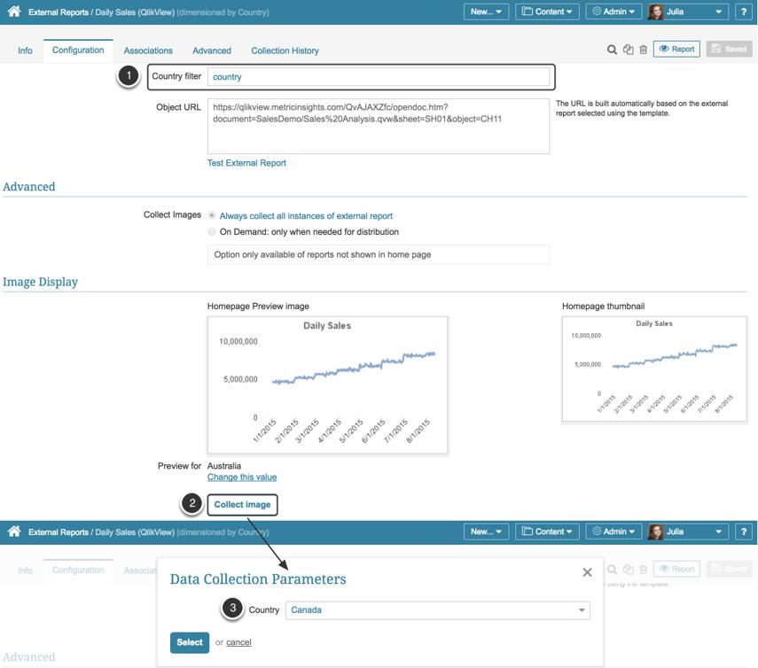 Dimensioned External Report - Set filter value