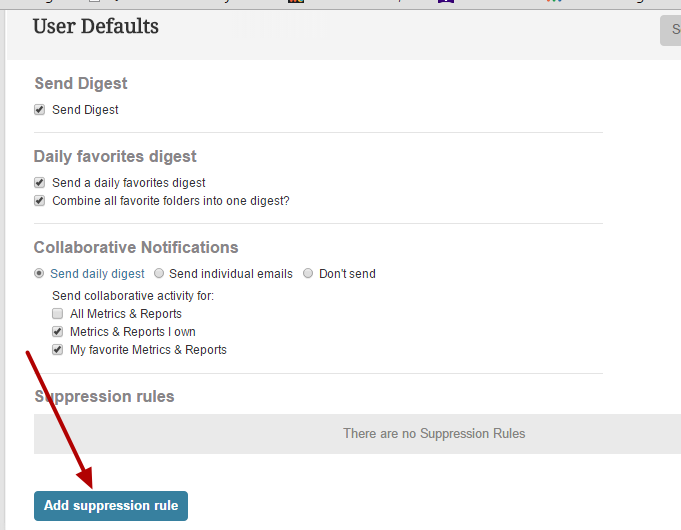Now we can add Suppression Rule defaults