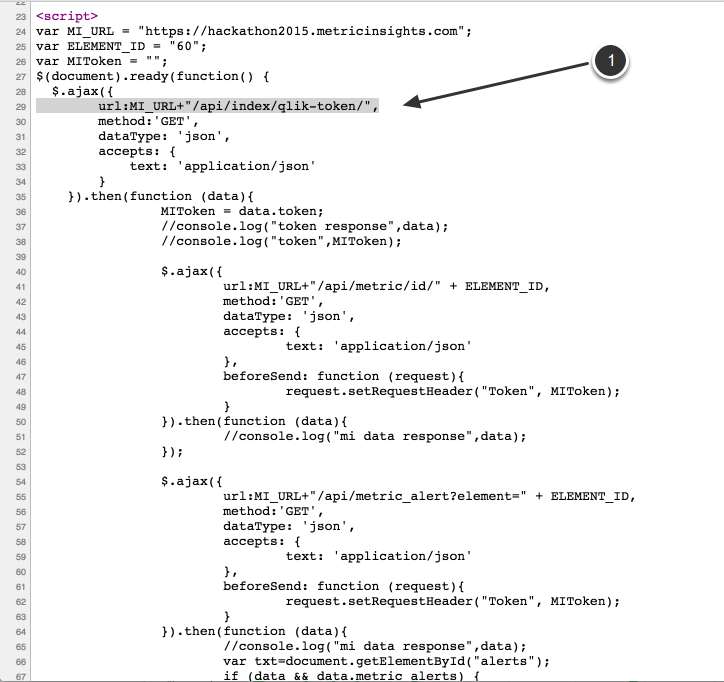 API via JavaScript