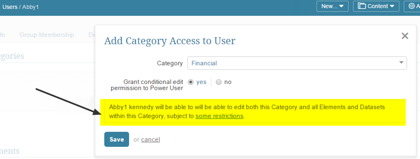 Effects of Granting Category Edit Access to Power Users