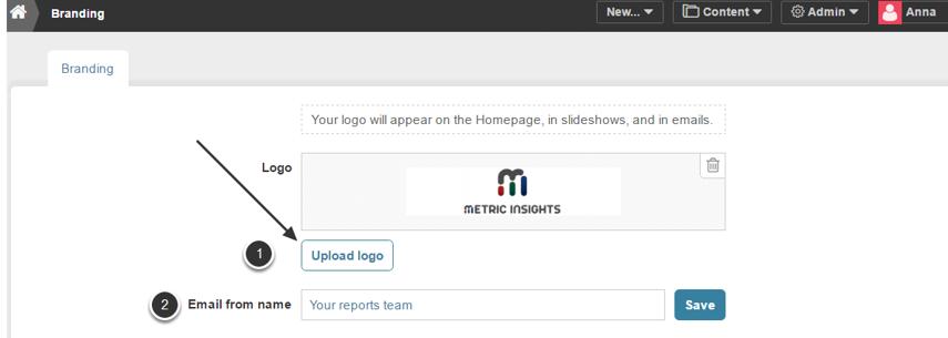 Click 'Upload logo'