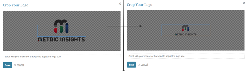 Adjust the logo size/position to fit in the cropping section as shown in the picture below