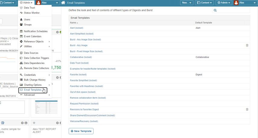 Email Digest Templates header/footer settings