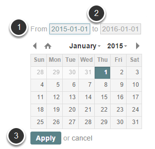 Select required date range from the calendar