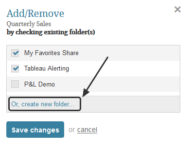 Click 'create new folder'
