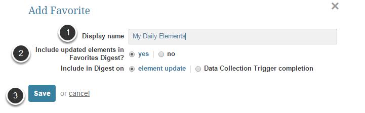 Adding a New Favorite Folder