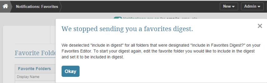 Result of 'Stop Sending this digest' link