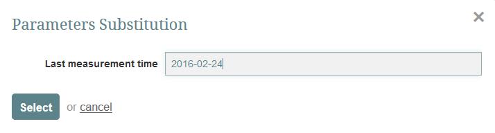 Optional pop-up for parameter substitution