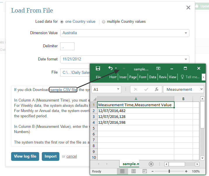If necessary, request a sample CSV file